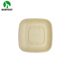 32 oz Sugarcane bagasse bamboo takeaway square disposable food container