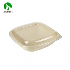 48 oz Eco friendly disposable pulp catering clear large salad bowls