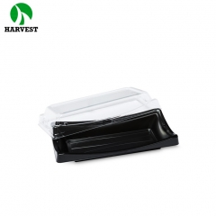 Disposable plastic sushi dessert food packaging tray for restaurant