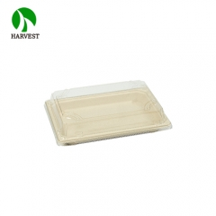 Highquality take out disposable pack sushi bagasse plate tray with lid