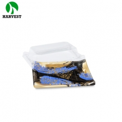 Disposable plastic printing sushi container with PS material