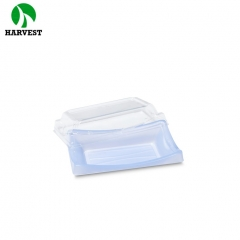 Rectangle sushi takeaway PS disposable plastic plate for catering