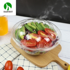 Takeaway disposable plastic clear to go 24oz salad bowl with lid