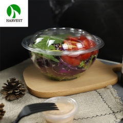 Food grade PET salad fruit disposable bowl tray set with plastic lid